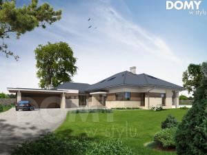 projekt dużego domu -wizualizacja-frontowa